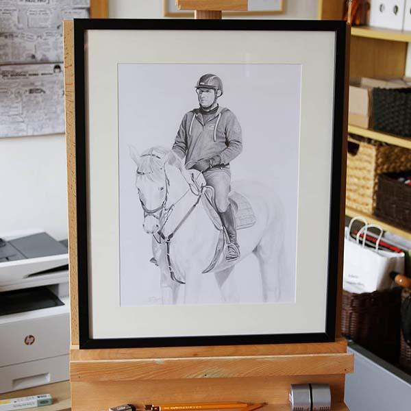 MAN ON HORSEBACK (frame)